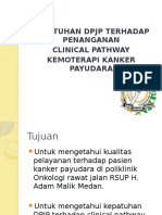 Kepatuhan DPJP Thp Clinical Pathway Kemoterapi