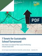 Seven Tenets for Sustainable School Turnaround