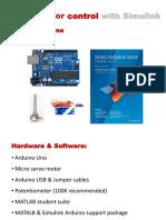 Servo Motor Control With Simulink on Arduino Uno