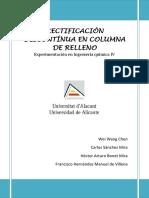 Informe rectificación continual ácido acético