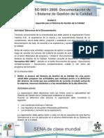 Actividad de Aprendizaje Unidad 2 Estructuracion de La Documentacion