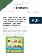 JUGO PARA DESINTOXICAR EL ORGANISMO, PURIFICAR LOS RIÑONES, DEPURAR EL HIGADO Y LIMPIAR EL APARATO DIGESTIVO.pdf
