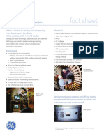 GE Energy Generator Test and Inspection Fact Sheet