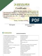 Certificado Curso de Nr 10 - Adailson Ricardo Ribeiro Aguiar