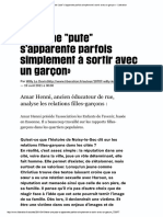 A. Henni, with W. le Devin, Être une 'pute' s'apparente parfois simplement à sortir avec un garçon (2011)