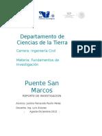 Reporte Puente San Marcos