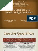 Espacio Geográfico y La División Político Territorial
