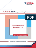 CRISIL Research Ier Report Apollo Hosp Ent 2014 Q3FY14fc