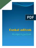 Euskal Aditzak 1b