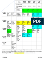 I MTE - Time Table