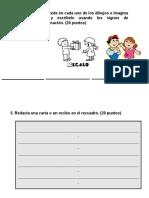 evaluacion escritura