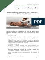 MEBE - ANA SILVESTRE - 2 - Perfil e Competências Do Profissional Técnico de Massagem