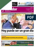 Edición impresa del lunes 12 de septiembre de 2016