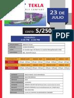 Tekla Structures Grupal Evento 23 de Julio