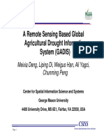 A Remote Sensing Based Global Agricultural Drought Information System GADIS