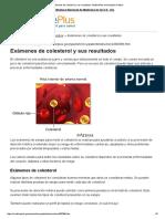 Exámenes de Colesterol y Sus Resultados_ MedlinePlus Enciclopedia Médica