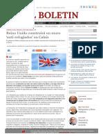 Reino Unido Construirá Un Muro 'Anti-refugiados' en Calais