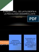 Stanley Hall de La Filosofía a La Psicología Desarrollista