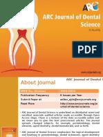 ARC Journal of Dental Science - Arc Journal Publishers