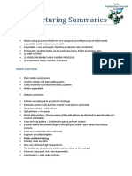 Manufacturing Summaries