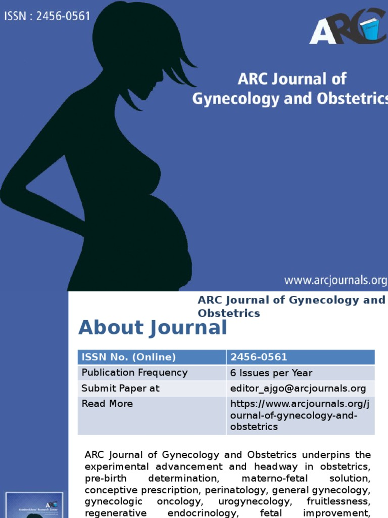 ARC Journal of Gynecology and Obstetrics - Arc Journal