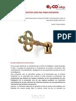 Coaching Educativo Con Pnl Para Docentes