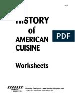 3023 History Cuisine Worksheet