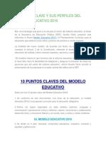 10 Puntos Clave y Sus Perfiles Del Modelo Educativo 2016