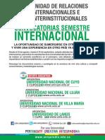 Convocatoria Movilidad Internacional 2016 2