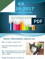 ka meet the teacher 2016
