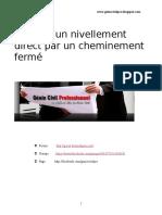 Calcul d'Un Nivellement Direct Par Un Cheminement Fermé V1 Univ Oran