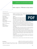 Compassion Fatigue in Family Caregivers