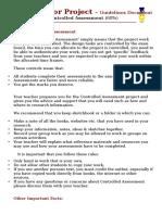 GCSE DT Project Guidelines (2015)