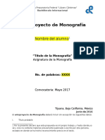Formato de Anteproyecto de Monografías 2017