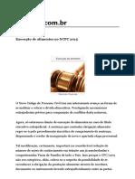Execução de alimentos no NCPC 2015.pdf