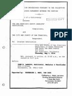 SFDSA May 1st 2014 Arbitration Board Proceeding
