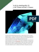 Breve Historia de La Cristalografía