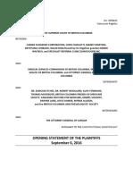 Opening Statement of the Plaintiffs (September 5 2016) (00115484xD836B)