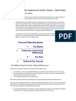 Deffered Tax and Tax Expense and Owner - Cheat Sheet