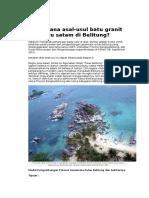 Batu Granit Di Bangka Belitung