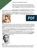 Biografias de Los Literarios Del Siglo Xx