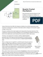 Oscilador Cristal
