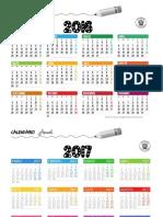 calendarios anuales 2016-2017