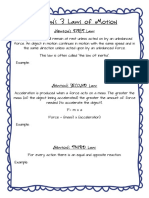 Free Newtons Laws of Motion Hand Out Force and Motion