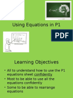 Using Equations in P1