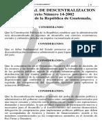 Ley General de Descentralizacion y Su Reglamento