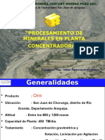 Planta Century Mining Peru SAC.