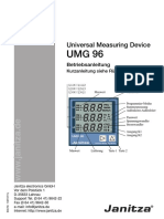 Janitza Manual UMG96 All Versions De