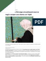 Condenada en Noruega Una Peluquera Que Se Negó a Acepar Una Clienta Con 'Hijab'