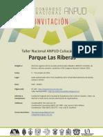 Invitación XIX Taller Nacional ANPUD Culiacán 2016